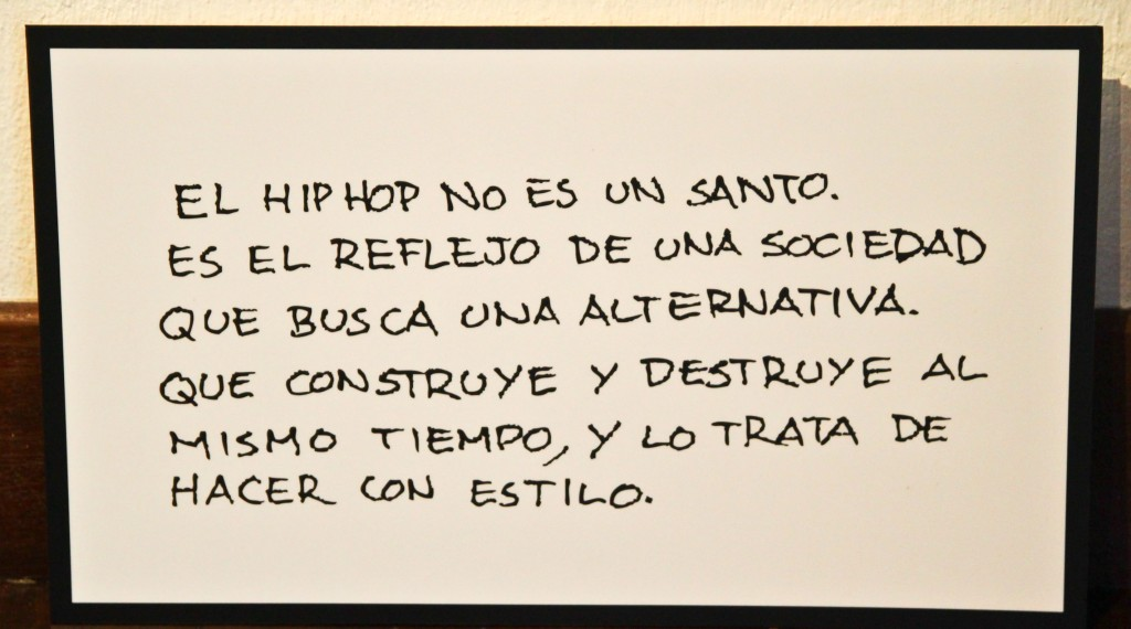 Hip Hop lives in Bogotá, Colombia. Learn Colombian Spanish and hip hop terminology with the Calle, Cuerpo Patrimonio Exhibit and TellittomeWalking.com travel'/language blog