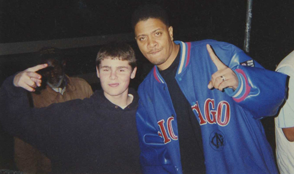 Photo taken of myself and Chali 2na of Jurassic 5 when I was 16 years old...