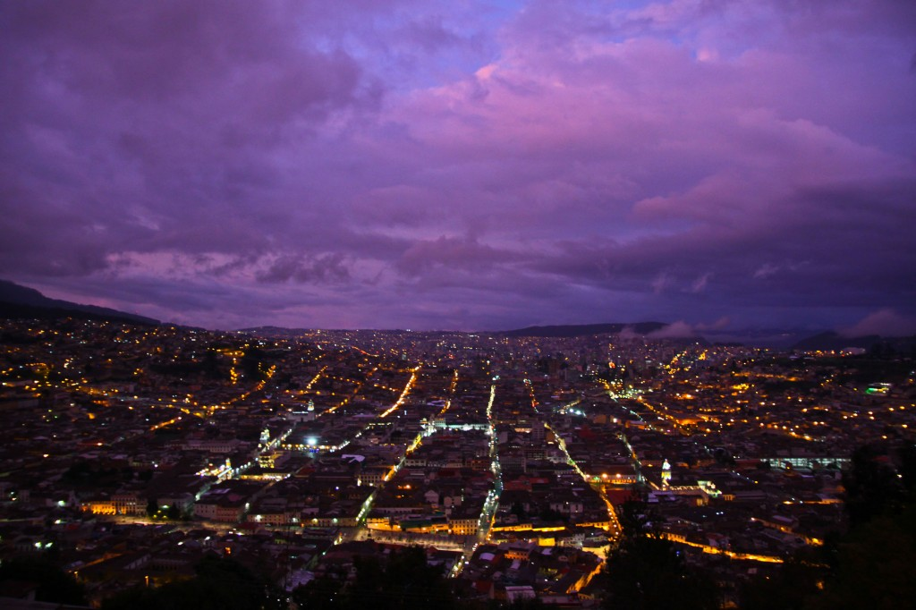 Quito by night, seen from el Panecillo