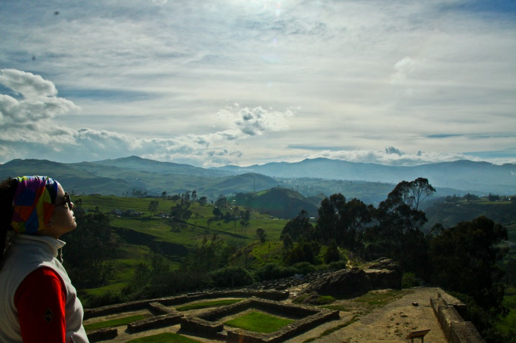 The countryside of Azuay at the Ingapirca Ruins in Ecuador (Bema on the side props)