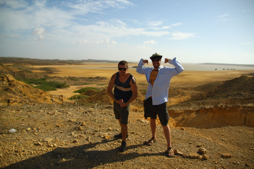 My main man Phil and I chicaneando at el mirador de Punto Gallinas en la Guajira, Colombia