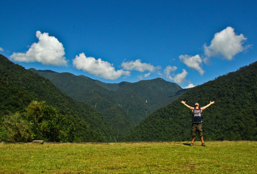 An overwhelming moment of  happiness caught on the Lost City Trek in Colombia