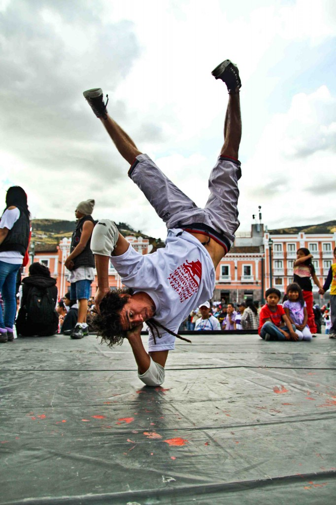 Latin America Travel Photography by Jamie Killen: El Miguel Iwias Crew Break Dance - Centro Historico - Quito, Ecuador